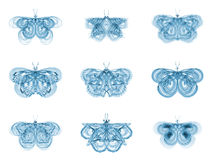 Virtual Fractal Butterflies Stock Photography