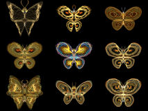 Virtual Fractal Butterflies Stock Image