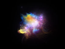 Virtual Fractal Nebula Stock Images