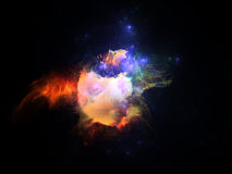 Virtual Fractal Nebula Stock Photography