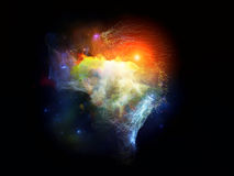Virtual Fractal Nebulae Royalty Free Stock Photo