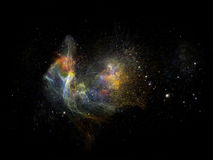 Virtual Fractal Nebulae Stock Photos