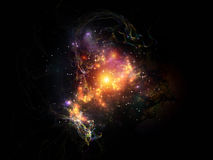 Virtual Fractal Nebulae Stock Images