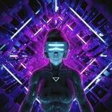 Virtual gamer woman Royalty Free Stock Photo