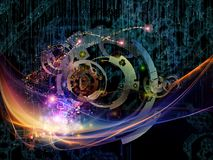 Virtual Gears Royalty Free Stock Images