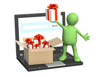 Virtual gift Stock Photography