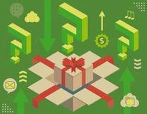 Virtual gift concept Stock Photo