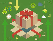 Virtual gift concept Royalty Free Stock Photography