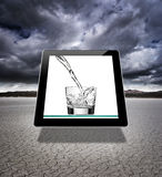 Virtual glass of water Royalty Free Stock Photo