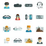 Virtual Glasses Flat Royalty Free Stock Photography