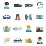 Virtual Glasses Flat Royalty Free Stock Photography