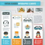 Virtual Glasses Infographics Royalty Free Stock Images