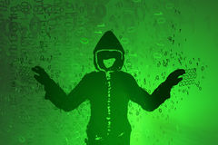 Virtual Hacker Arms Spread Royalty Free Stock Photography