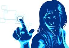 Virtual Hacker Girl Royalty Free Stock Photography
