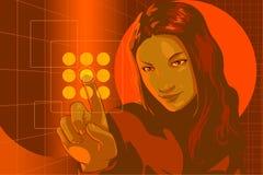 Virtual Hacker red Royalty Free Stock Image