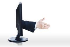 Virtual handshake Stock Photography