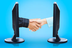 Virtual handshake Stock Image