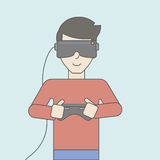 Virtual headset Royalty Free Stock Images