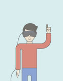 Virtual headset Royalty Free Stock Photo
