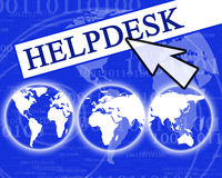 Virtual helpdesk Royalty Free Stock Image