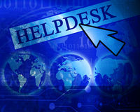 Virtual helpdesk Royalty Free Stock Images