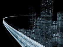 Virtual Highway Stock Image
