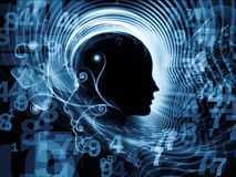 Virtual Human Mind Stock Photo