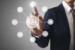 Virtual icon of social network Royalty Free Stock Photo