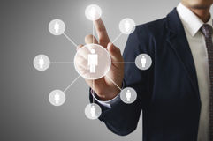 Virtual icon of social network Royalty Free Stock Image
