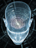 Virtual Insight. Insight In Mind series. Artistic background made of human head rendering and conceptual element for use with projects on brain,  thinking Stock Images