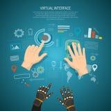 Virtual Interface Design Concept Stock Photo