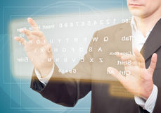 Virtual Keyboard. Royalty Free Stock Images