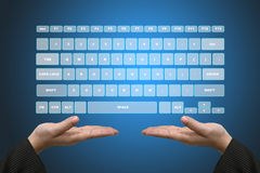 Virtual Keyboard Interface Royalty Free Stock Photography