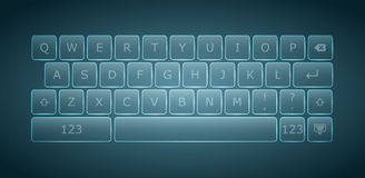 Virtual keyboard for touchscreen devices Stock Image
