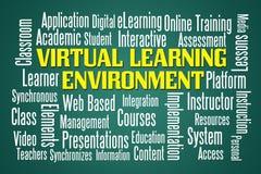 Virtual Learning Environment royalty free illustration