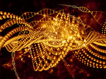 Virtual Life of DNA Royalty Free Stock Image