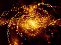 Virtual Life of DNA Royalty Free Stock Photo