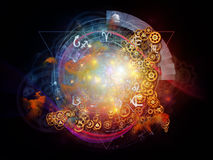 Virtual Life of Sacred Geometry Stock Image