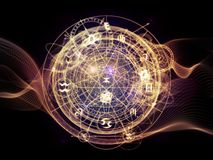 Virtual Life of Sacred Geometry Stock Images