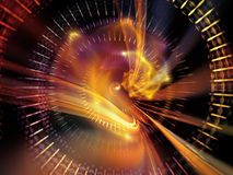 Virtual Light Waves. Light Waves series. Backdrop design of light curves and sine waves for works on design, science and modern technologies royalty free stock photo