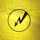 Virtual Lightning Symbol Stock Photo