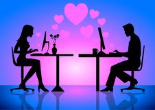 Virtual Love Stock Image