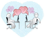 Virtual Love Royalty Free Stock Image