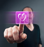 Virtual Love Stock Images