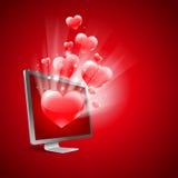 Virtual love Royalty Free Stock Image