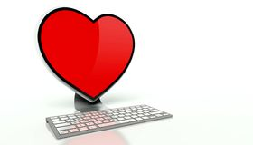 Virtual love on the internet concept Stock Photo