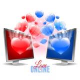 Virtual love Stock Image