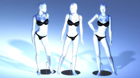 Virtual Manikins Stock Images