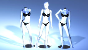Virtual Manikins Royalty Free Stock Images