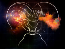 Virtual Mind Royalty Free Stock Photos